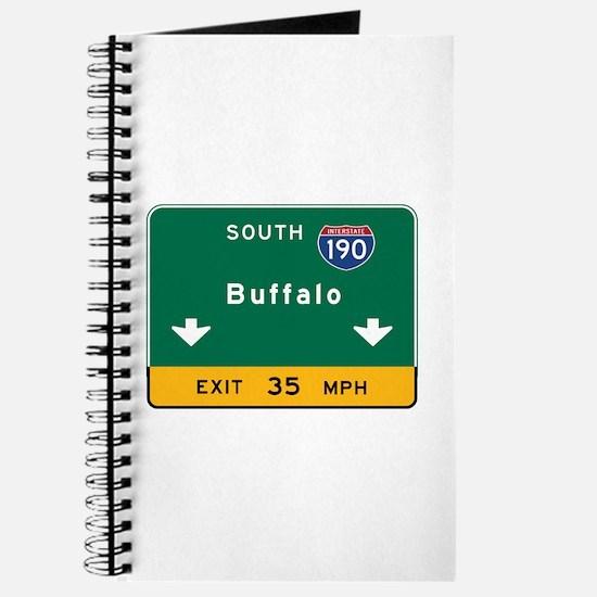 Buffalo, NY Road Sign, USA Journal