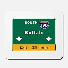 Buffalo, NY Road Sign, USA Mousepad