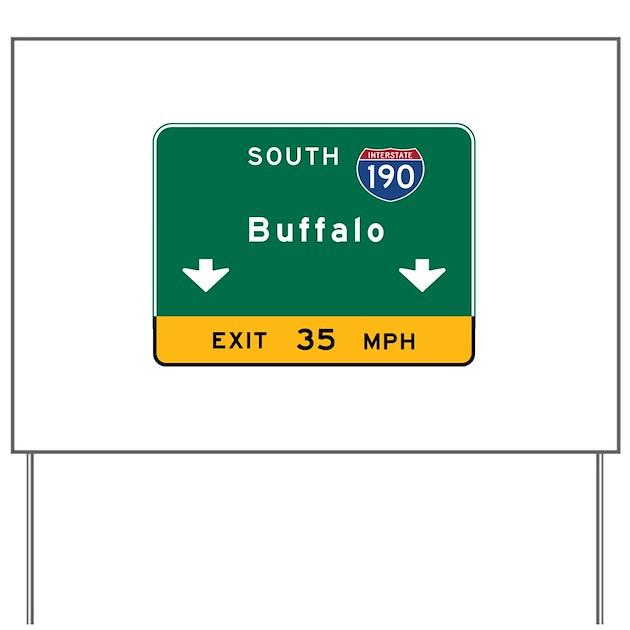Buffalo, NY Road Sign, USA Yard Sign By Worldofsigns2