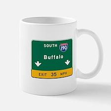 Buffalo, NY Road Sign, USA Mug