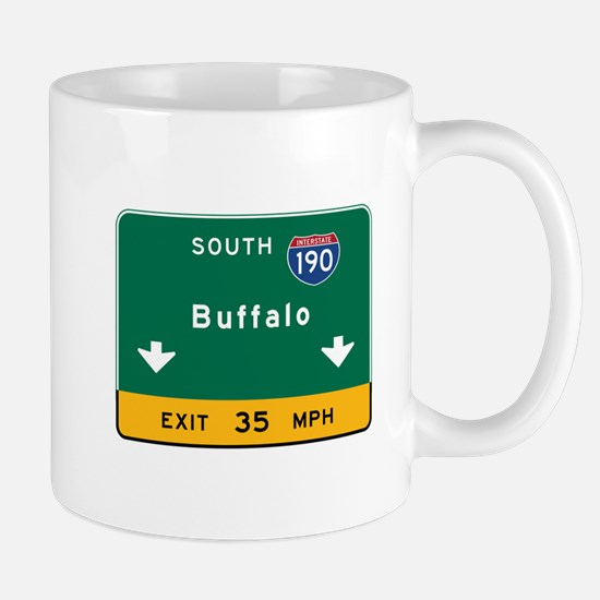 Buffalo, NY Road Sign, USA Mug