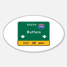 Buffalo, NY Road Sign, USA Decal