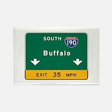 Buffalo, NY Road Sign, USA Rectangle Magnet
