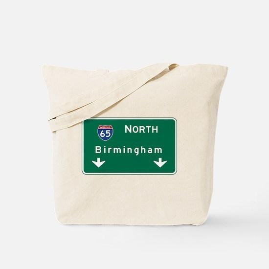 Birmingham, AL Road Sign, USA Tote Bag