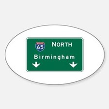 Birmingham, AL Road Sign, USA Decal