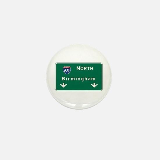 Birmingham, AL Road Sign, USA Mini Button