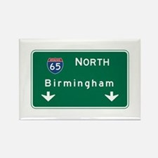 Birmingham, AL Road Sign, USA Rectangle Magnet