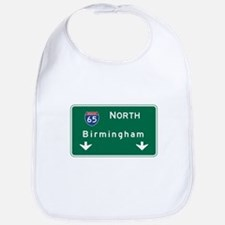Birmingham, AL Road Sign, USA Bib