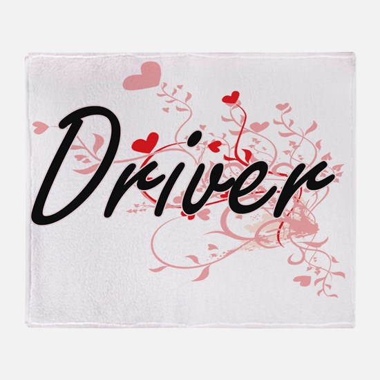 Driver Artistic Job Design with Hear Throw Blanket