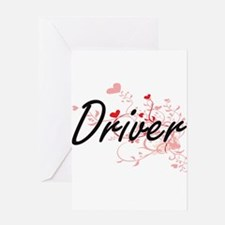 Driver Artistic Job Design with Hea Greeting Cards