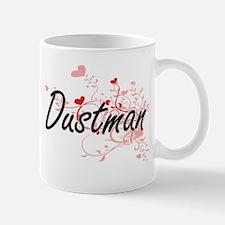 Dustman Artistic Job Design with Hearts Mugs
