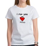 i ruv you Women's T-Shirt