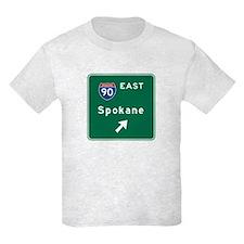 Spokane, WA Road Sign, USA T-Shirt