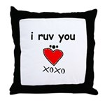 i ruv you Throw Pillow