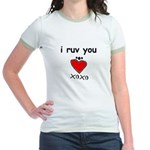 i ruv you Jr. Ringer T-Shirt