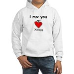 i ruv you Hooded Sweatshirt