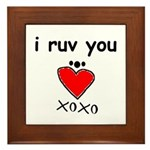 i ruv you Framed Tile