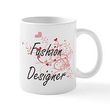 Fashion Designer Artistic Job Design with Hea Mugs