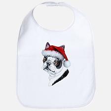 Boston Terrier Santa Bib