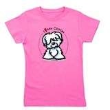 Coton de tulear girl pink Girl's Dark T-Shirt