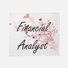 Financial Analyst Artistic Job Desig Throw Blanket