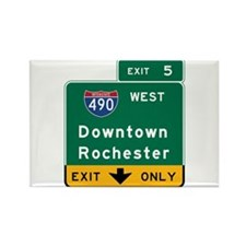 Rochester, NY Road Sign, USA Rectangle Magnet