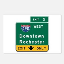Rochester, NY Road Sign, Postcards (Package of 8)