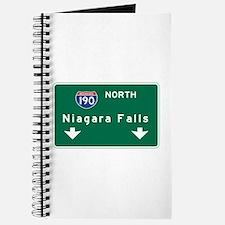 Niagara Falls, NY Road Sign, USA Journal