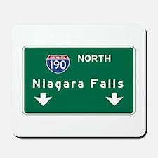 Niagara Falls, NY Road Sign, USA Mousepad