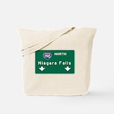 Niagara Falls, NY Road Sign, USA Tote Bag