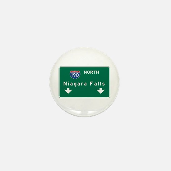 Niagara Falls, NY Road Sign, USA Mini Button