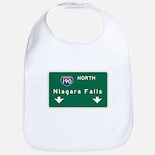 Niagara Falls, NY Road Sign, USA Bib