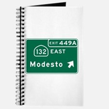 Modesto, CA Road Sign, USA Journal
