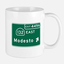 Modesto, CA Road Sign, USA Mug