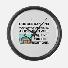 Cute Librarian Large Wall Clock