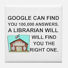 Cute Librarian Tile Coaster