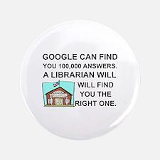 Cute Librarian Button