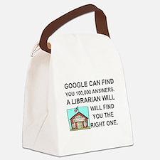 Cute Librarian Canvas Lunch Bag
