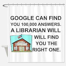 Cute Librarian Shower Curtain