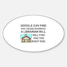 Unique Librarian Sticker (Oval)