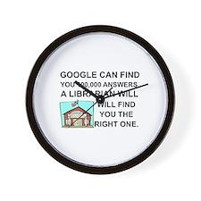Cute Librarians Wall Clock