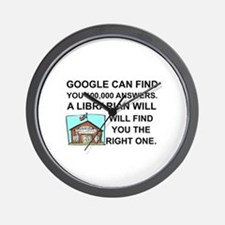 Cute Librarians Wall Clock