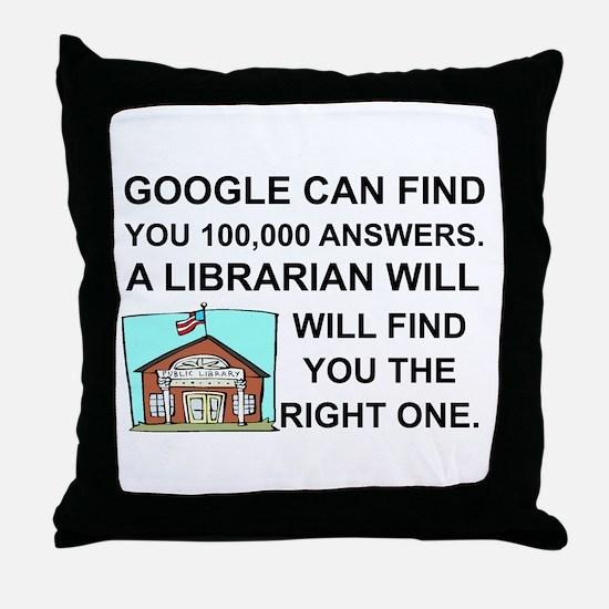 Cute Librarians Throw Pillow