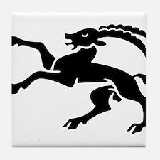 grison romanche suisse ibex Tile Coaster