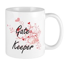 Gate Keeper Artistic Job Design with Hearts Mugs
