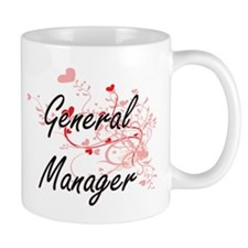 General Manager Artistic Job Design with Hear Mugs