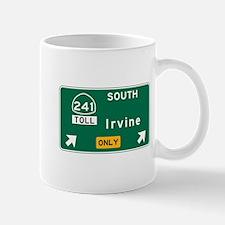 Irvine, CA Road Sign, USA Mug
