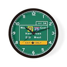 Henderson, NV Road Sign, USA Wall Clock