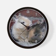 SMALL BABY RABBITS Wall Clock
