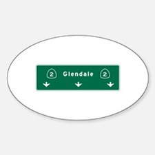 Glendale, CA Road Sign, USA Decal